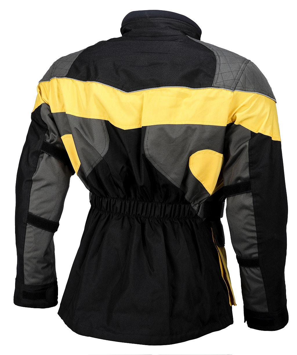 Motorrad Jacke Touren Cordura Motorradjacke schwarz gelb grau S