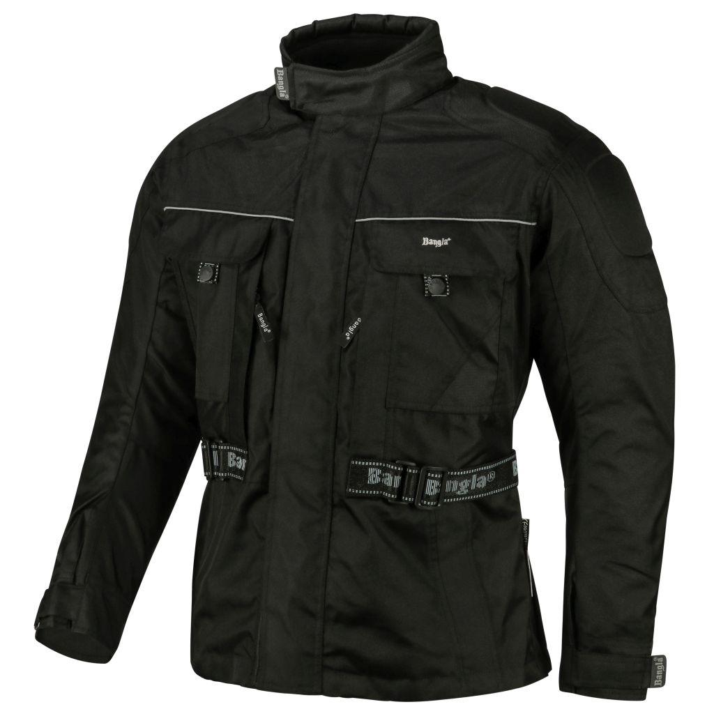 Bangla Motorrad Jacke Motorradjacke Textil Protektor Schwarz Gr. S- 8 XL