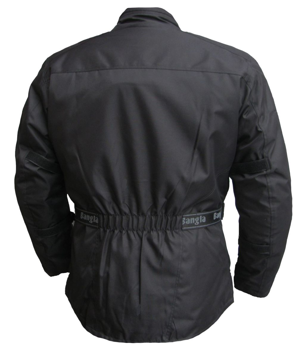 Bangla Damen Motorrad Jacke Motorradjacke Protektoren Schwarz 36 - 44