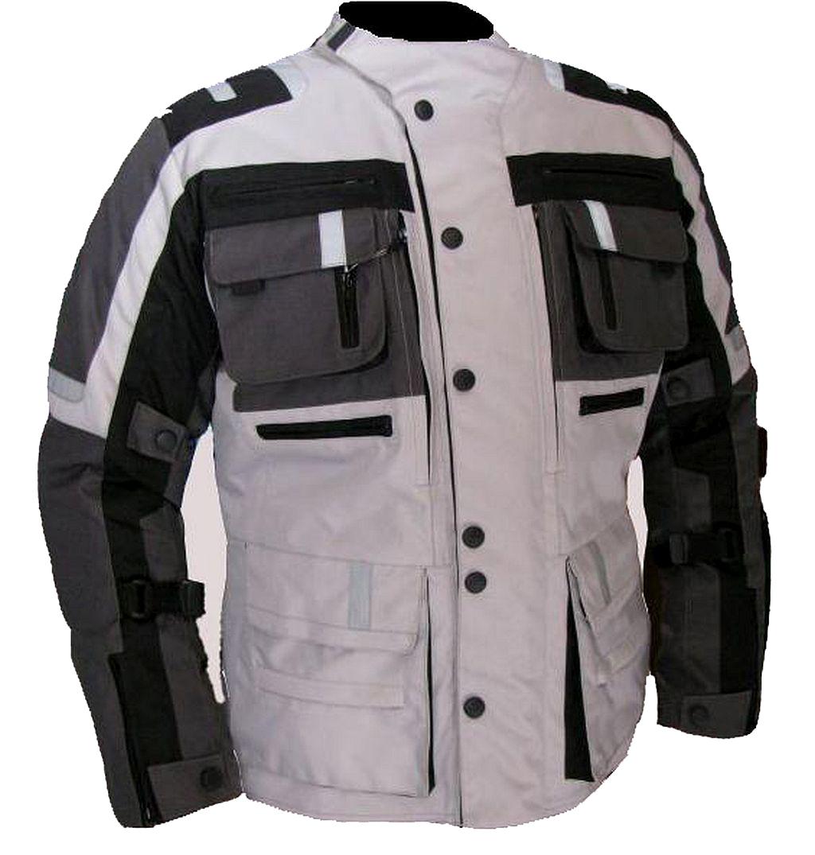 Bangla Herren Motorrad Jacke Motorradjacke Textil Schwarz Grau M - 6 XL NEU