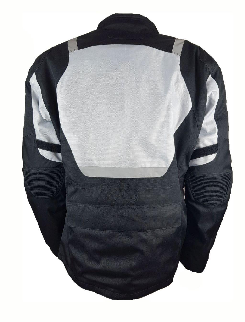 Bangla Motorrad Jacke Motorradjacke Textil Protektor schwarz grau Gr. L