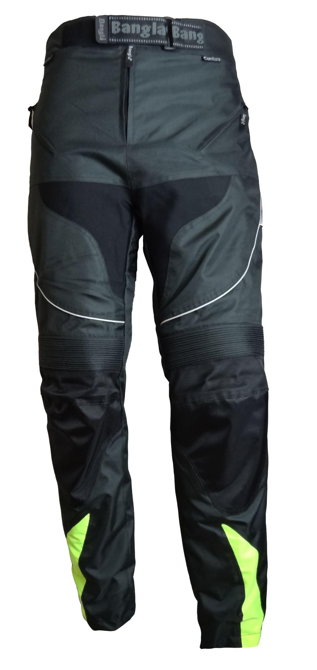 Kinder Motorrad Hose Cordura  Schwarz Kinderhose schwarz neongelb 128 - 176 Neu