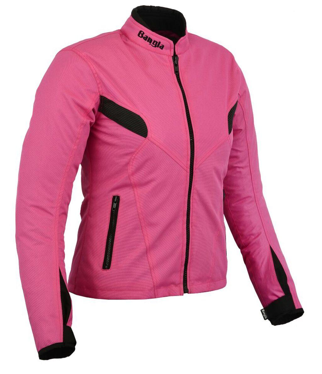 Bangla Damen Motorrad Jacke Motorracke Textil Pink schwarz S - XXXL