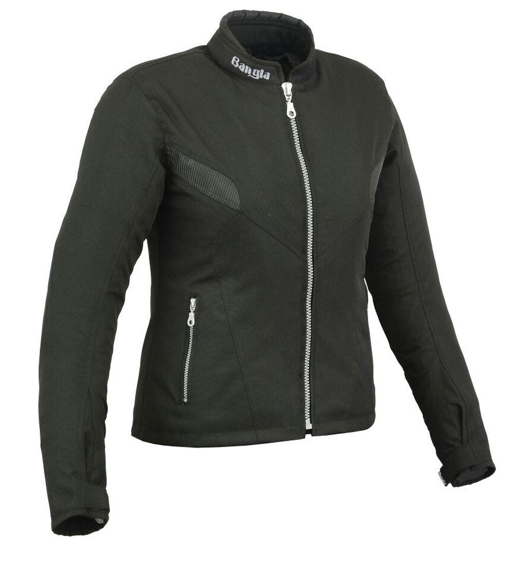 Bangla Kurz Damen Motorrad Jacke Motorracke Textil schwarz S - XXXL