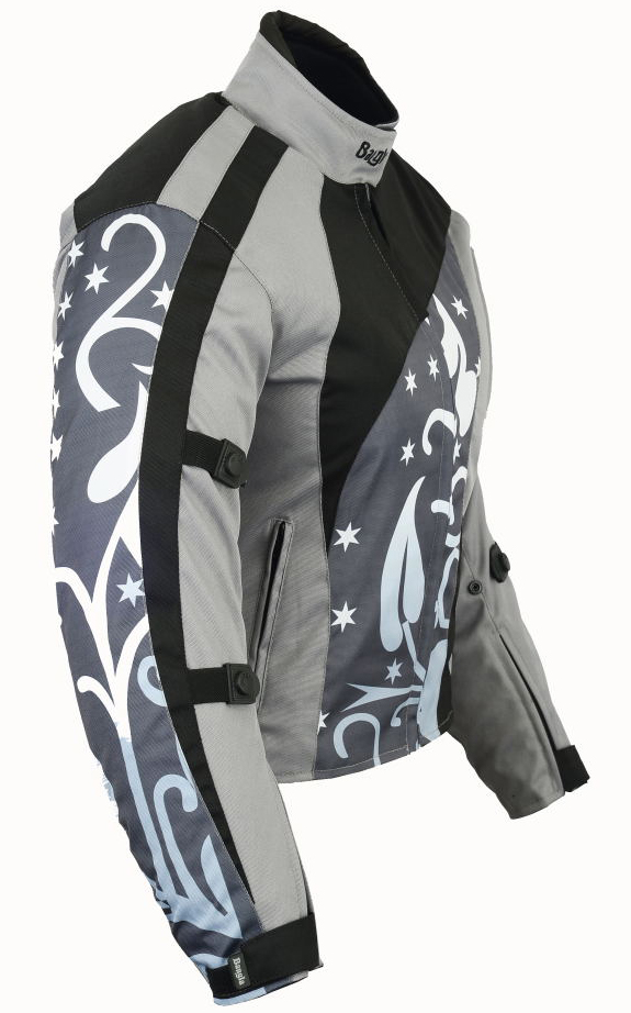 Bangla Damen Motorrad Jacke Motorracke Textil Schwarz Grau S M L XL XXL XXXL