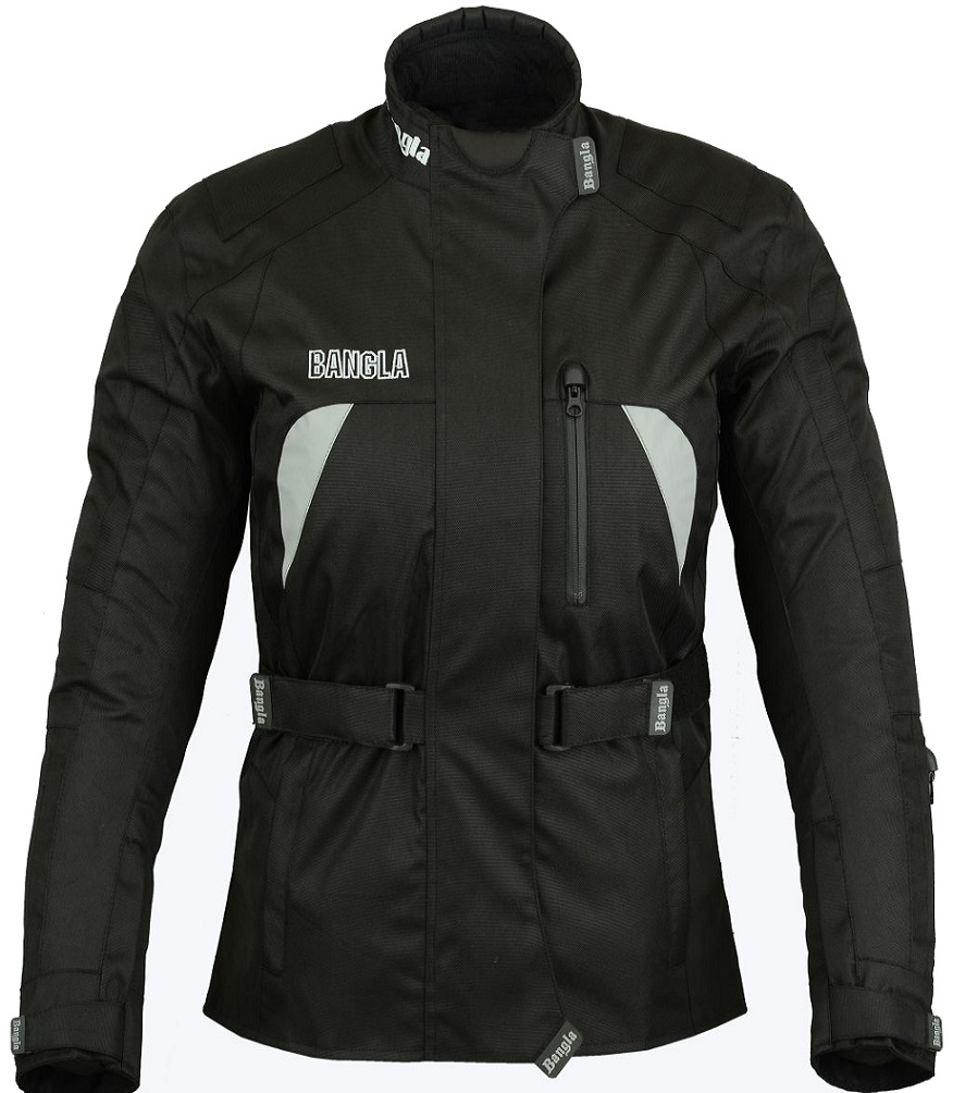 Bangla Damen Motorrad Jacke Motorradjacke Cordura Textil schwarz S M L XL XXL