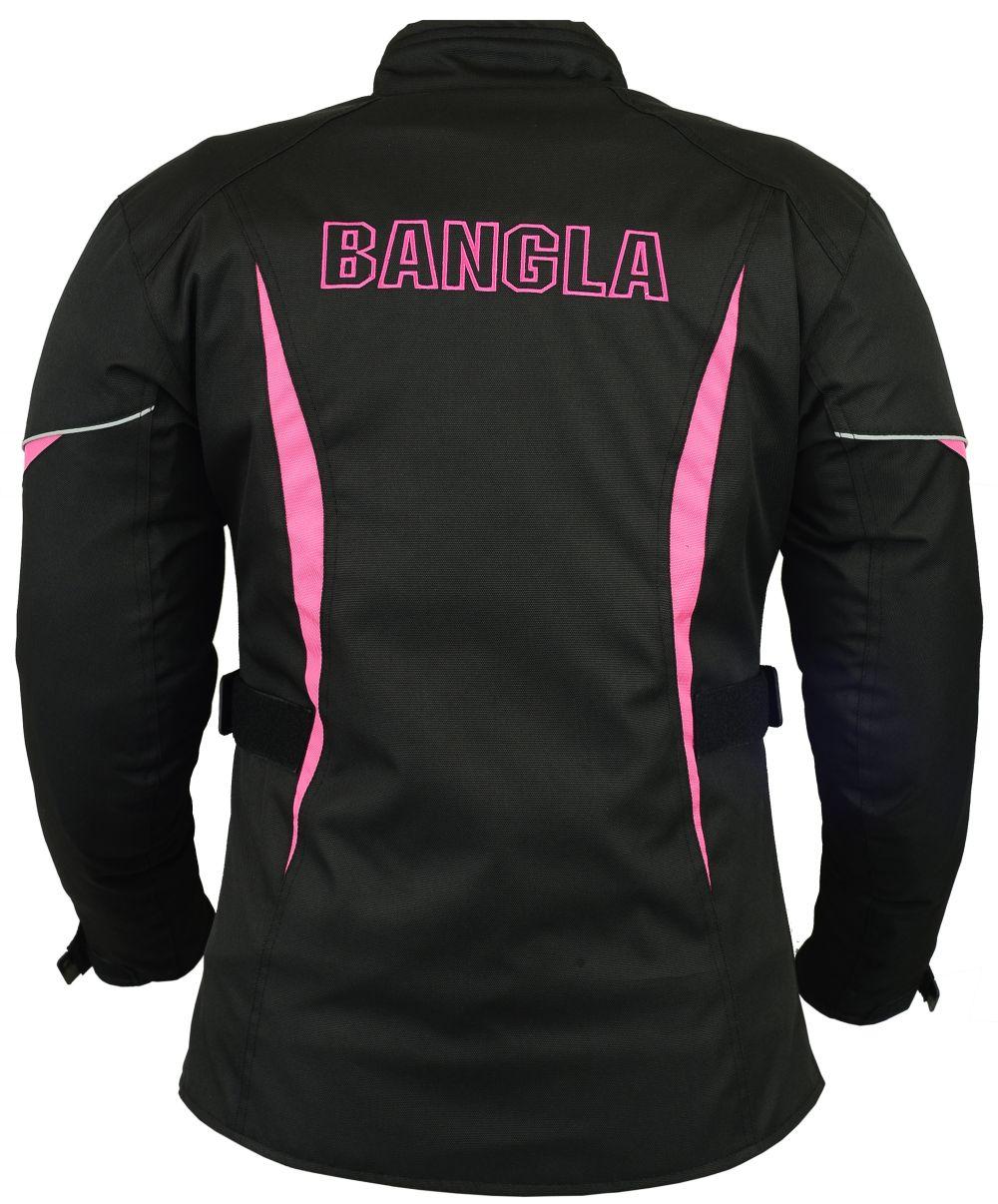 motorradjacke damen textil schwarz pink bangla s m l xl. Black Bedroom Furniture Sets. Home Design Ideas
