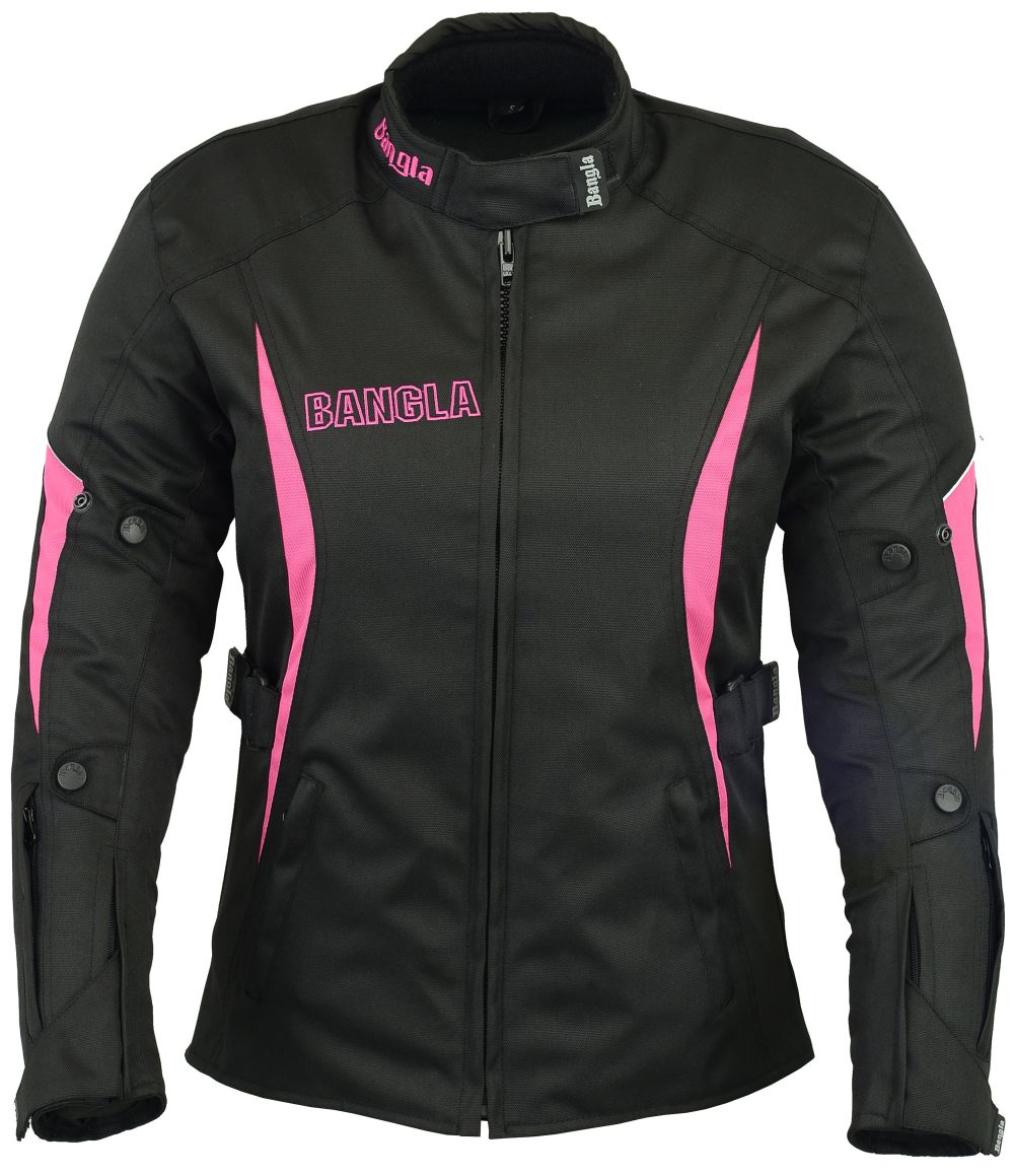 motorradjacke damen textil schwarz pink bangla s m l xl. Black Bedroom Furniture Sets. Home Design Ideas