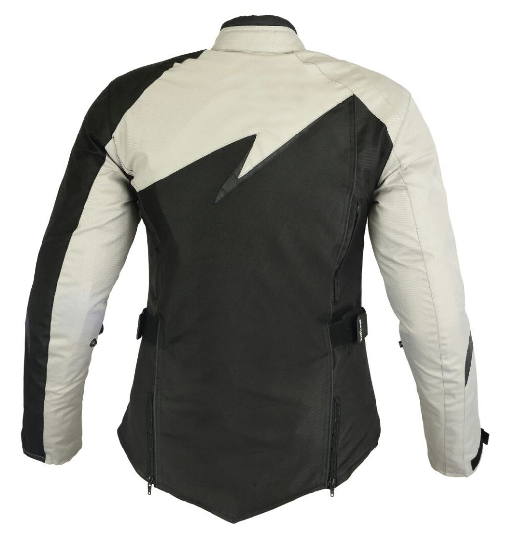 Bangla Damen Motorrad Jacke Motorracke Textil Schwarz mit Grau S - XXXL