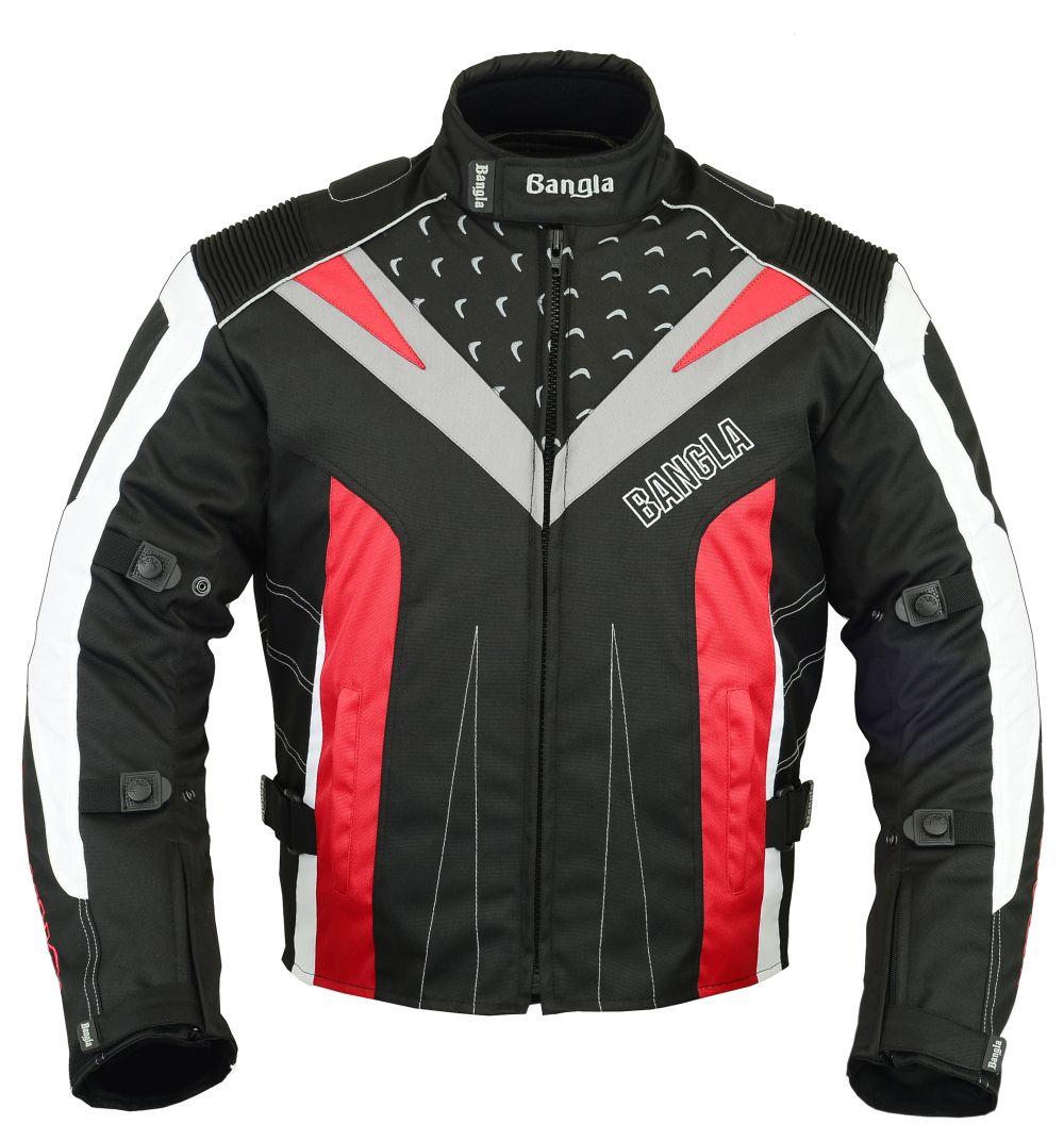 Bangla Sport Motorrad Jacke kurz Cordura Motorradjacke rot S - XXL