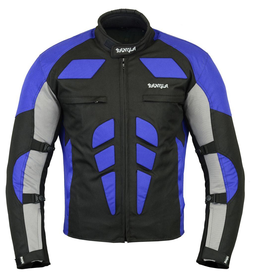 Bangla Motorrad Textil Jacke Cordura kurz schwarz blau grau S M L XL XXL XXXL