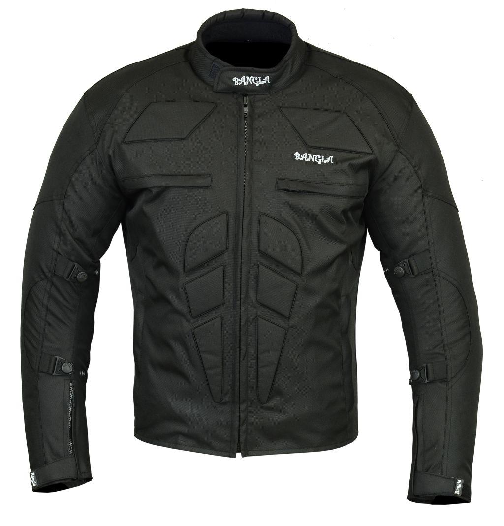Bangla Motorradjacke Motorrad Jacke Textil Biker Kurzjacke schwarz S - 5 XL