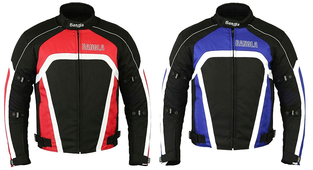 Bangla Kurze Sport Motorrad Jacke Motorradjacke Texti kurz rot oder blau S - XXL