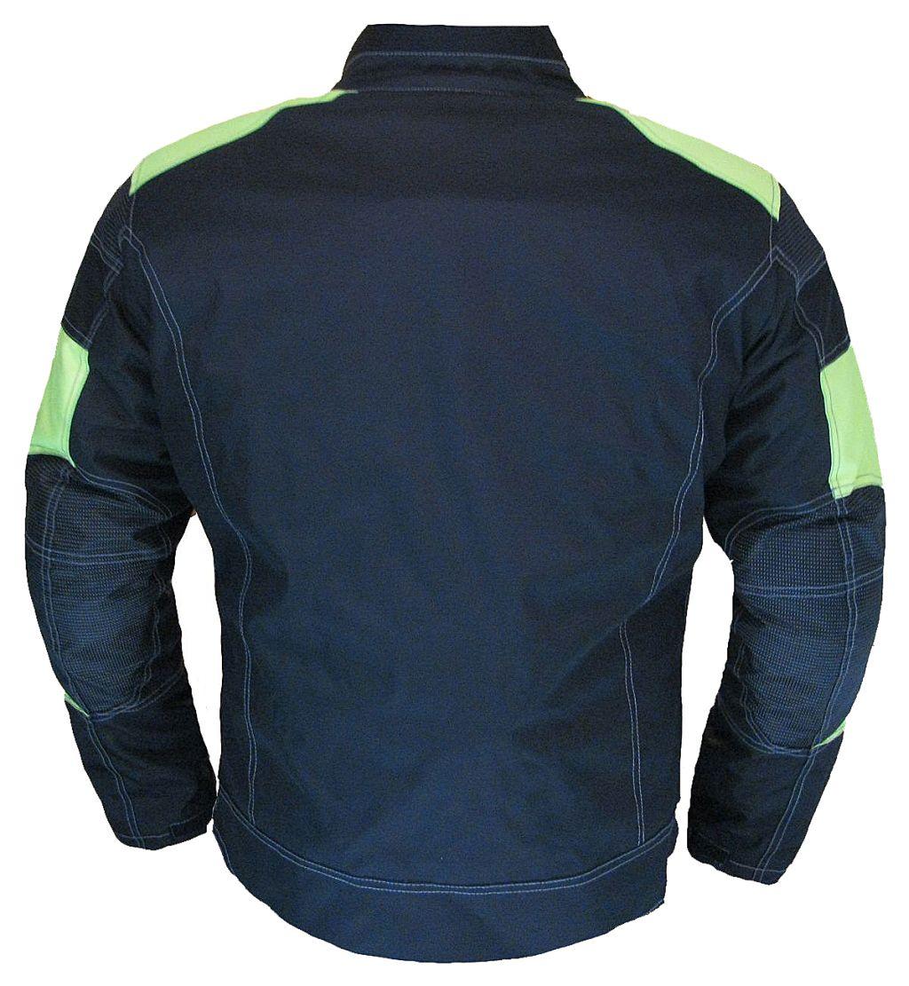 Motorrad Jacke Touren Textil Cordura Motorradjacke Schwarz Neongelb 3XL und XL