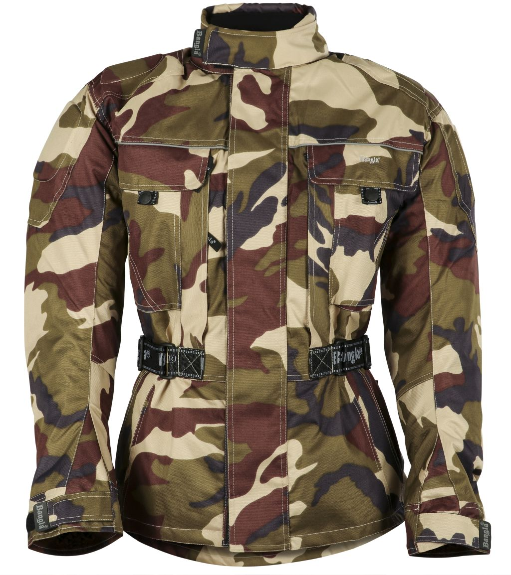 Bangla Motorradjacke Motorrad Jacke Textil Cordura Camouflage Gruen S - 6 XL