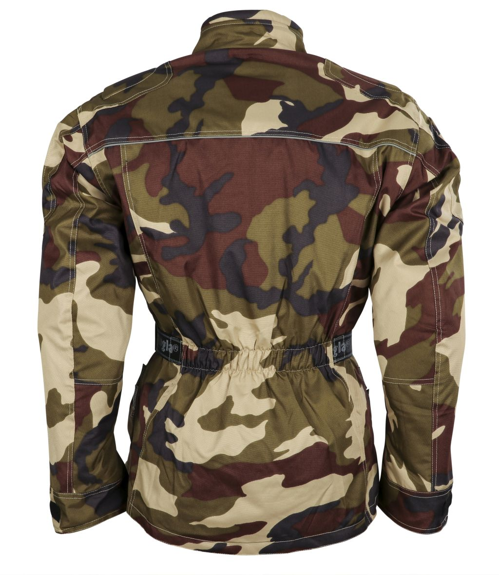 Bangla Motorrad Jacke Motorradjacke Textil Protektor Camouflage/grün S - 8 XL