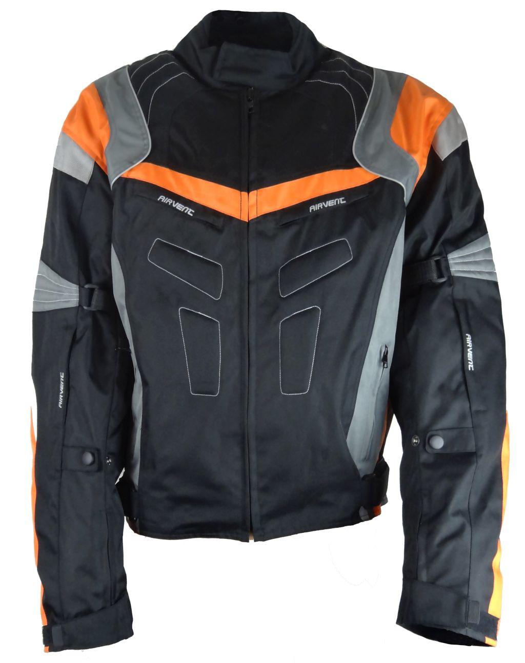 Bangla Motorrad Textil Jacke Cordura Orange schwarz weiss grau Musterstück 3 XL