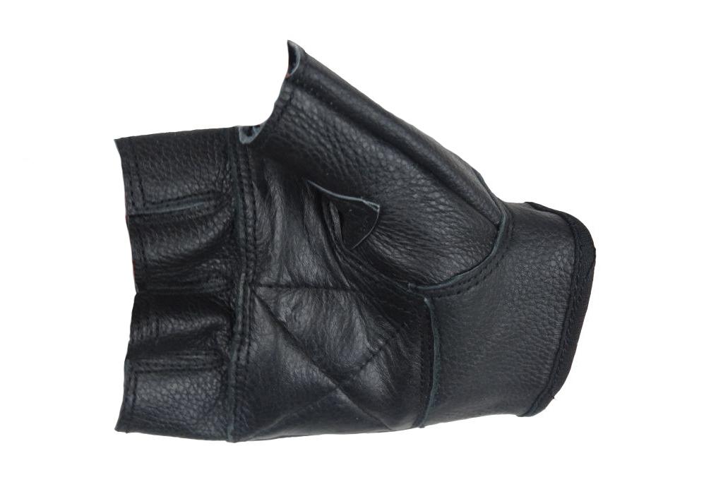 Motorradhandschuhe Motorrad Handschuh Leder schwarz Fingerling Nieten Gr.XS-XXL