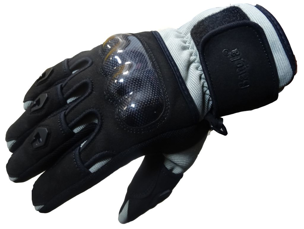 Bangla Motorradhandschuhe Motorrad Handschuh Textil Schwarz Grau XS - XXXL