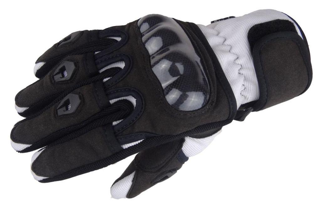 Bangla Motorradhandschuhe Motorrad Handschuh kurz weiss schwarz XS - XXL