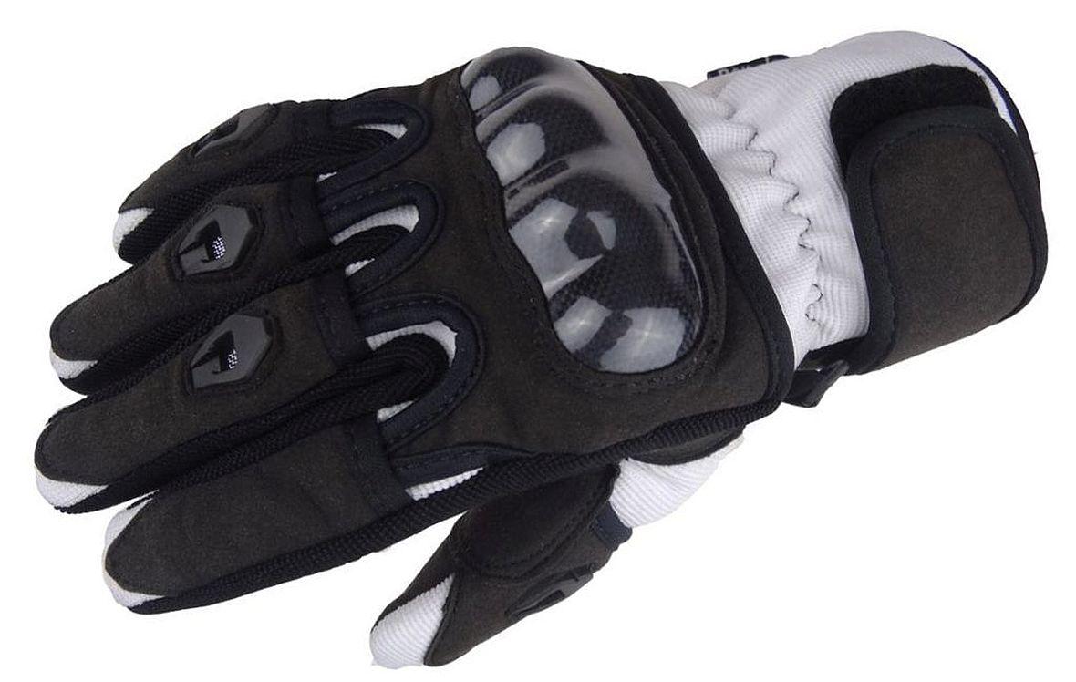 Bangla Motorradhandschuhe Motorrad Handschuh kurz weiss schwarz XS - XXXL