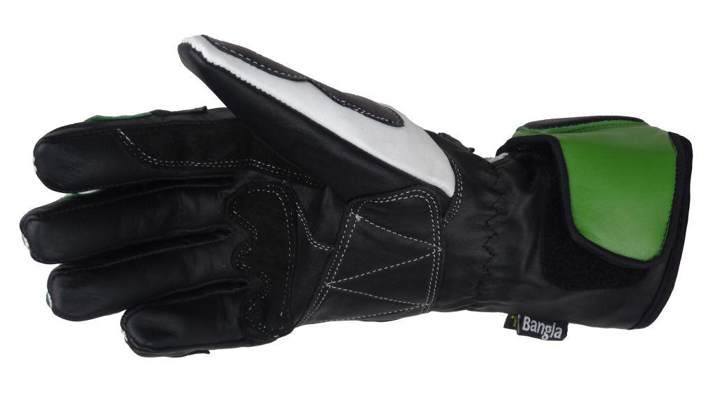 Bangla Motorrad Handschuhe Motorradhandschuhe Leder Ninja grün XS -XXL