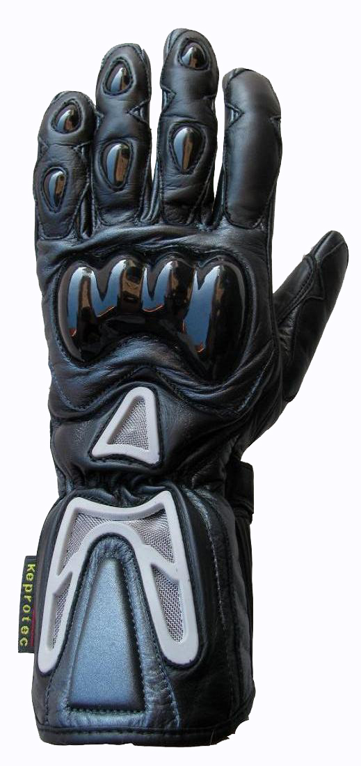 Motorradhandschuh Leder Motorrad Handschuh Grau-schwarz XXS-XXL