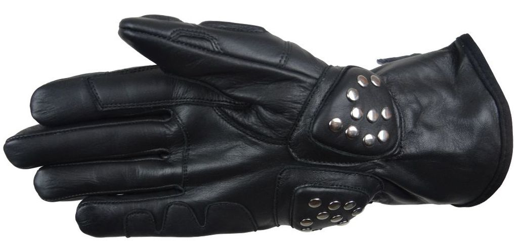 Bangla Motorradhandschuhe Motorrad Handschuhe Leder Nieten Schwarz XS S M L XL