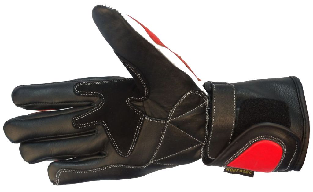 Bangla Motorradhandschuhe Motorrad Handschuhe Leder Rot Schwarz XS - XXL