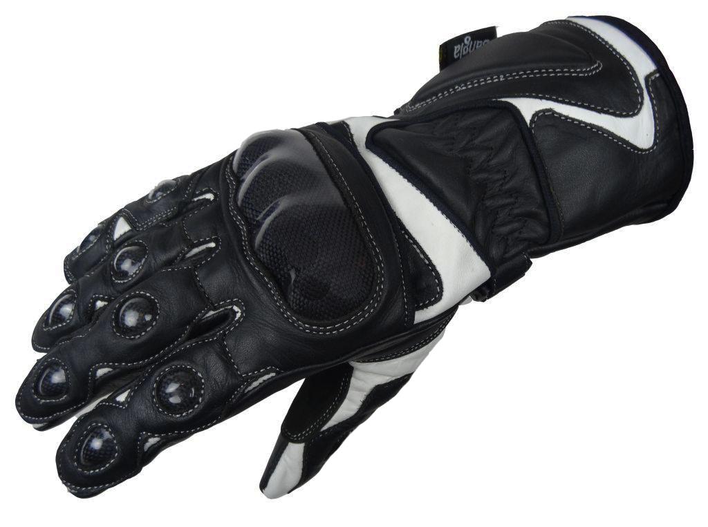 Bangla Motorradhandschuhe Leder Motorrad Handschuhe Schwarz weiss XXS - XXL