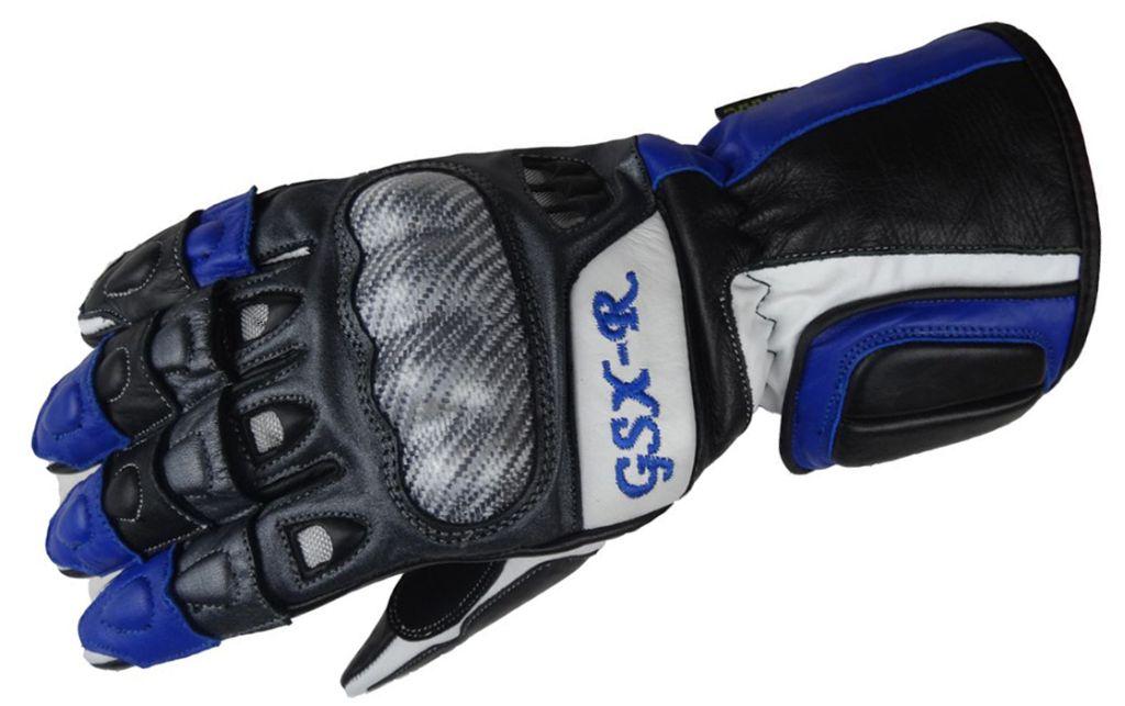 Bangla Motorrad Handschuh Motorradhandschuhe Leder Suzuki GSXR blau S - XXL