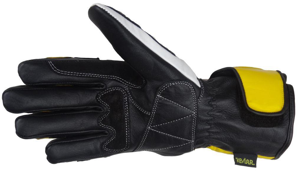 Bangla Motorradhandschuhe Motorrad Handschuhe Gelb Schwarz Leder 5012 S M L XL