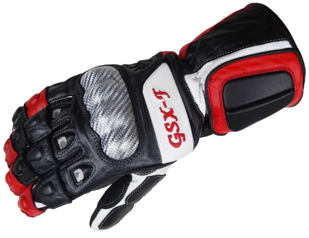 Bangla Motorradhandschuhe Motorrad Handschuh Leder schwarz rot GSX-F   S M L XL