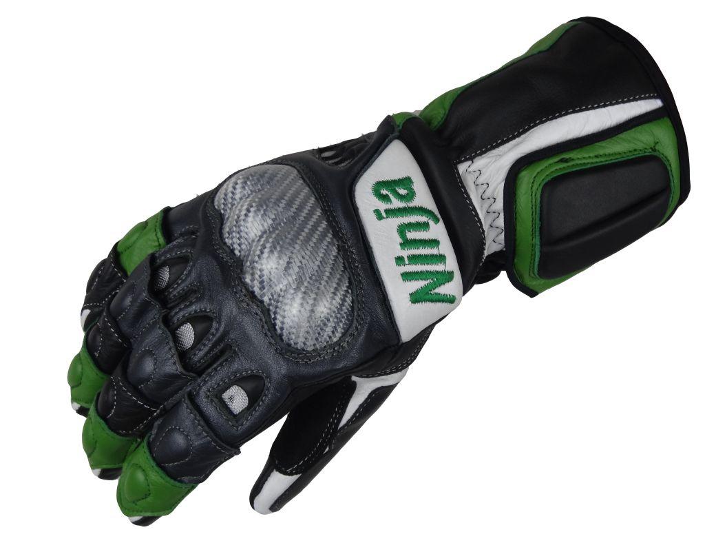 Bangla Motorrad Handschuhe Leder Motorradhandschuhe Ninja grün XS -XXL