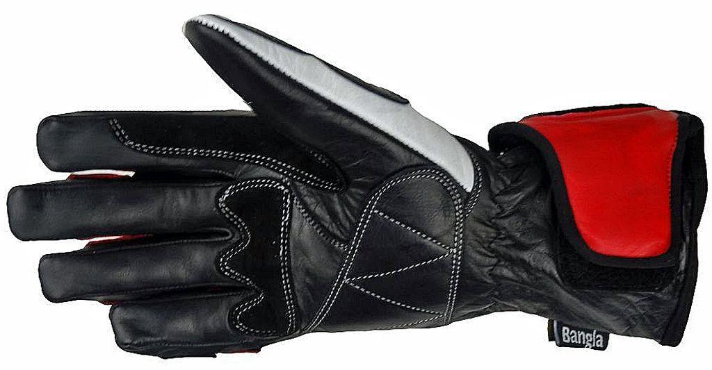 Bangla Motorradhandschuhe Leder Motorrad Handschuhe 5012 rot  schwarz L S M L XL