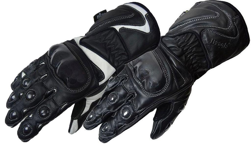 Bangla Winter Motorradhandschuhe Leder gefüttert Schwarz oder weiss XS - XXXL