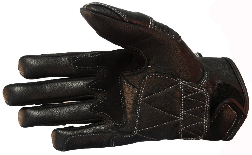 Kurze Motorradhandschuhe Motorrad Handschuhe Leder Grau schwarz XS S M L XL XXL