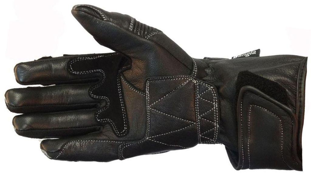 Bangla Motorradhandschuhe Motorrad Handschuhe Leder Grau Schwarz S - XXXL
