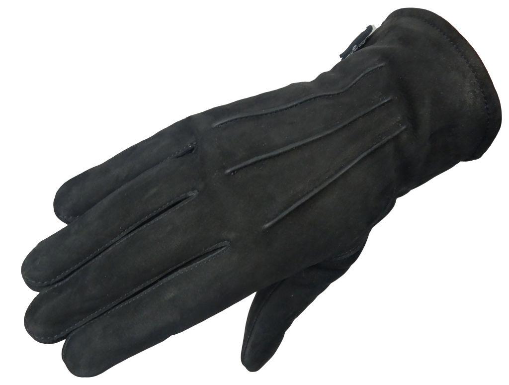 Elegante Winter Damen Lederhandschuhe Wildleder Schwarz S M L