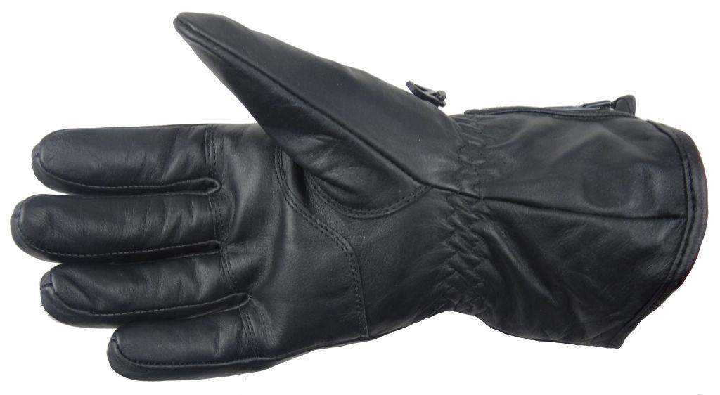 Winter Motorrad Handschuhe Winterhandschuhe Leder Ski weiss schwarz XS -XXL