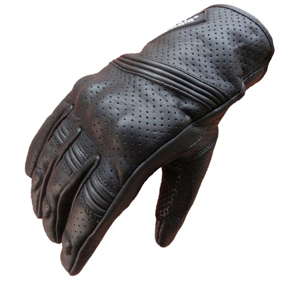 Bangla Motorradhandschuhe Kurz Motorrad Handschuhe Leder Schwarz S - XXXL